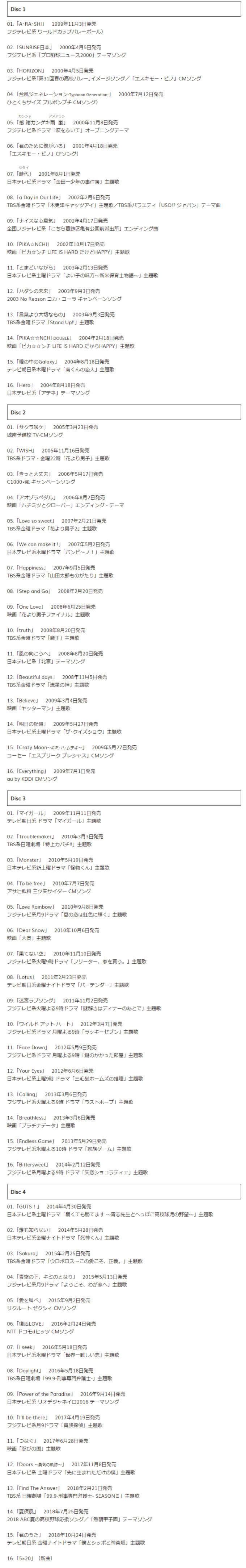 嵐アルバム